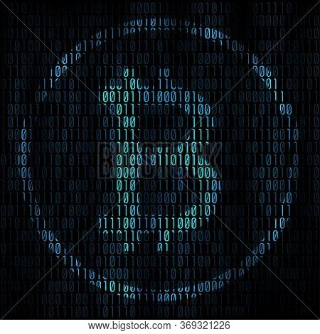 Bitcoin Coding Abstract Background. Bitcoin Matrix With Binary Code For Your Business Project Backgr
