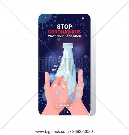 Coronavirus Protection Concept Wash Your Hands Often Protect Yourself Prevent Covid 19 Guidance To S
