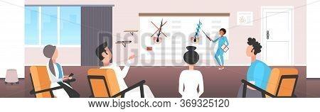 Dermatologist Explaining Hair Follicle Structure For Doctors Team Hair Keratin Strengthening Treatme