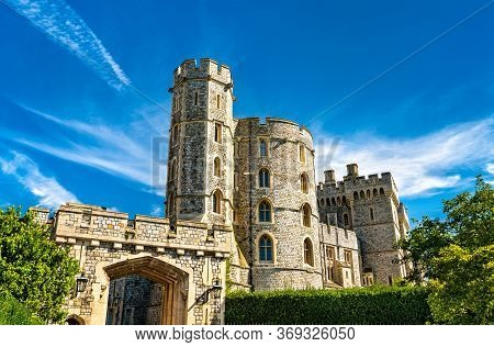 St. Georges Gate With King Edward Iii Tower At Windsor Castle In Berkshire, England