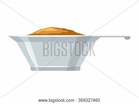 Barber Illustration Of Professional Container For Hair Coloring. Hairdressing Salon Item.