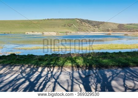 Views Of Cucmere River Near Seaford And Eastbourne, East Sussex, View From Friston Forest Across The