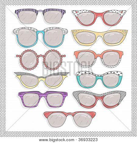 Retro Sunglasses Set