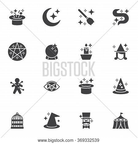 Magic Vector Icons Set, Modern Solid Symbol Collection, Filled Style Pictogram Pack. Signs, Logo Ill