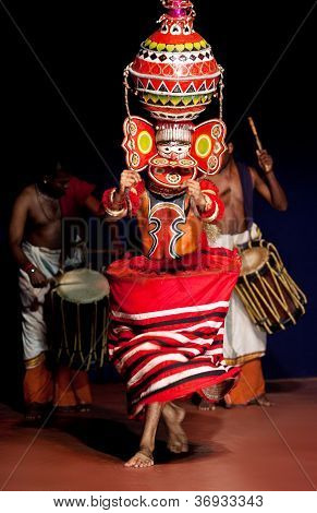 kathakali performer in the Nakrathundi role, India