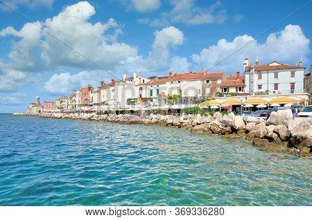 Waterfront Of Piran At Adriatic Sea,slovenian Riviera,slovenia