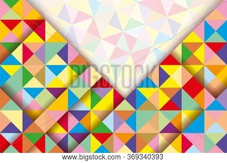 Abstract 3D geometric colorful background. Abstract vector background with triangles.Abstract Background. Colorful Abstract Background. Abstract circle geometric pattern design and background. business abstract background. Geometric pattern, triangles vec