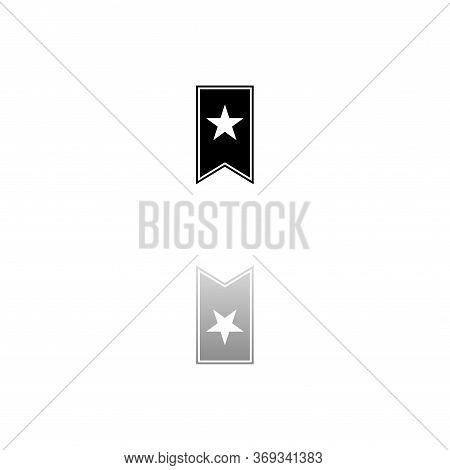 Bookmark. Black Symbol On White Background. Simple Illustration. Flat Vector Icon. Mirror Reflection