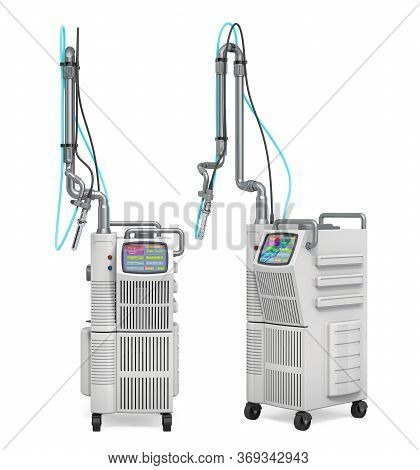 Professional Vaginal Tightening Fractional Co2 Laser System. 3d Rendering Isolated On White Backgrou