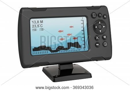 Fish Finder, 3d Rendering Isolated On White Background