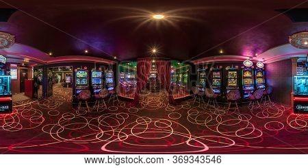Las Vegas, Usa - May, 2017: Full Seamless Hdri Panorama 360 Degrees View In Interior Elite Luxury Vi