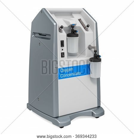 Home Oxygen Concentrator, 3d Rendering Isolated On White Background