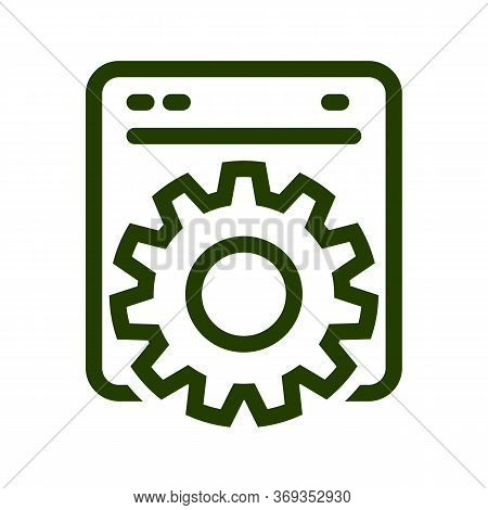 Process Icon Isolated On White Background From Programming And Coding Collection. Process Icon Trend