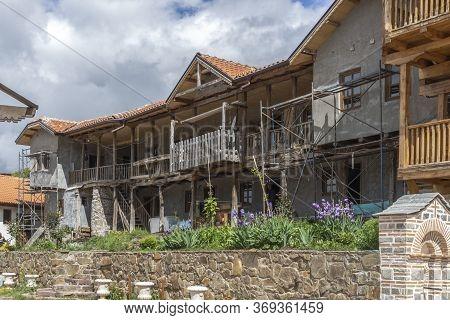 Gigintsy Monastery, Bulgaria - May 18, 2014:  Medieval Tsarnogorski (gigintsy) Monastery St. Kozma A