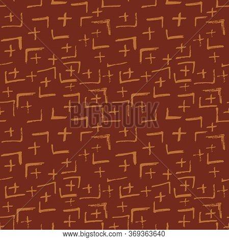 Tie Dye Japanese Geometric Winter Seamless Pattern. Boho Tie Dye Geisha Batik. Scribble Cartoon Dood