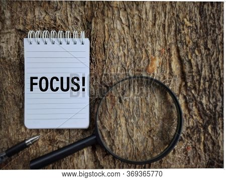 Focus Text On White Paper In Vintage Background. Stock Photo