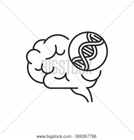 Genetic Predisposition Dementia Line Black Icon. The Disease Is Inherited. Sign For Web Page, Mobile
