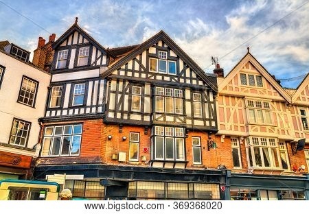Traditional English Houses In Canterbury - Kent, Uk