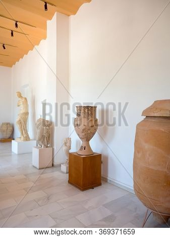 Ancient Greek Exhibits Of The Museum In Milos