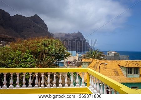 Ponta Do Sol/cape Verde - August 11, 2018 - Cliffs And Ocean View From The City In Santo Antao Islan