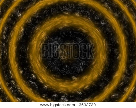 black fluid surface with lots of orange ripples poster