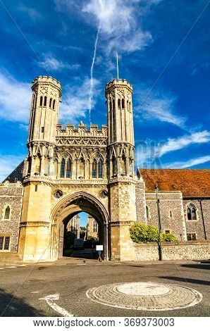 The Fyndon Gate Of St. Augustine Abbey In Canterbury - Kent, Uk