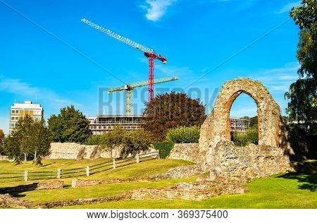 Ruins Of St Augustines Abbey In Canterbury. Unesco World Heritage In England