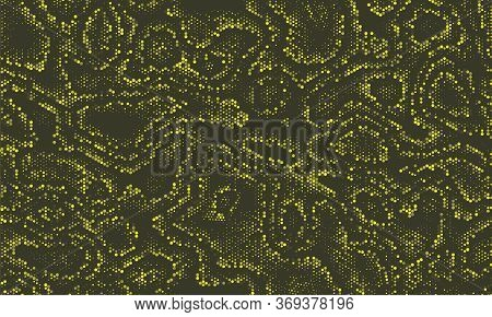 Paintball Seamless Curvy Vector Camouflage. Vivid Colour Invisible Repeated Doted Graphic Wallpaper.
