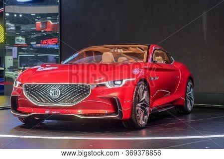 Nonthaburi-thailand 28 Nov 2018: Mg E-motion Concept Car  Show On Display At The 35th Thailand Inter