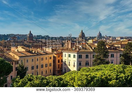 Piazza Venezia, View From Vittorio Emanuele Ii Monument, Rome