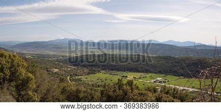 Panoramic View Of Pindos Mountains