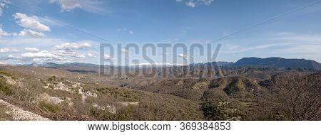 Panoramic Landscape Of Pindos Mountains In Epirus, Greece