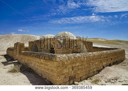 An Old, Abandoned, Walled Compound, East Of Jerusalem In The Judean Desert.