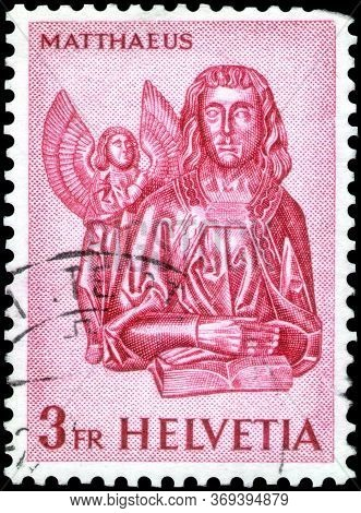 Saint Petersburg, Russia - May 17, 2020: Postage Stamp Issued In The Switzerland With The Image Of T