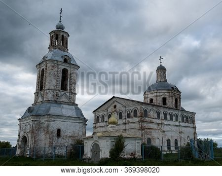 Old Inactive Church Against A Dramatic Sky Near Kazan, Russia