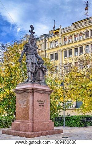 Monument To Russian Emperor Nicholas Ii Romanov In Belgrade, Serbia