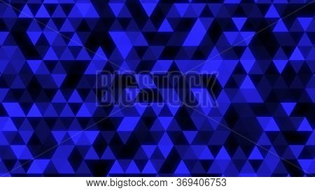 Abstract Glowing Blue Triangle Tessellation - Abstract Background Texture