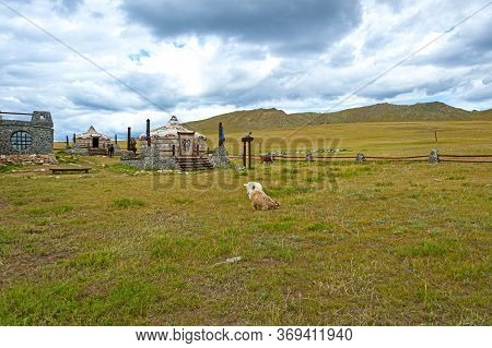 Ulan-bator, Mongolia - August 25, 2016: View Of The Mongolia 13th Century National Park Built As A W