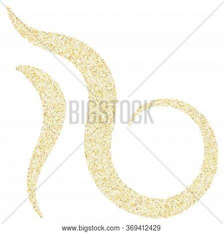 Gold Sparkles Glitter Dust Metallic Confetti Vector Background. Geometric Golden Sparkling Backgroun