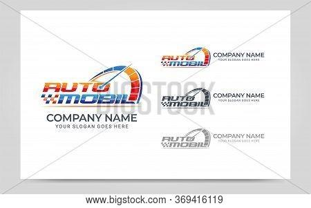 Rpm Automotive Logo Design. Editable Logo Design. Vector Graphic Illustration