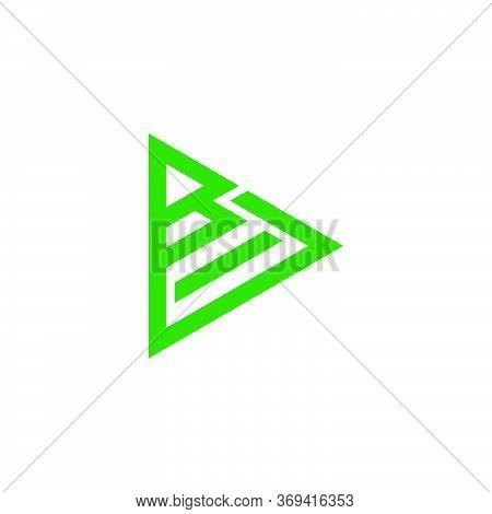 Letter Bd Stripes Geometric Triangle Logo Vector