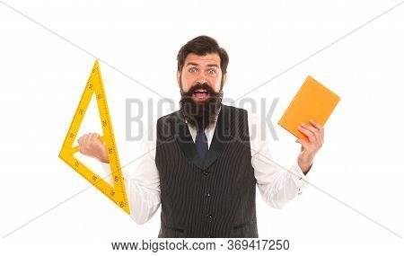 Expand Skills And Knowledge. Measurement Tool. Teacher Bearded Man. Back To School. School Classes.