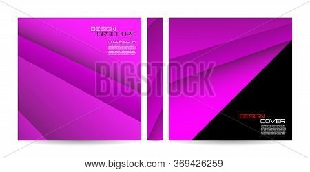 Brochure Template With Striped Overlapping Diagonal Lines. Magazine, Poster, Book, Presentation, Adv