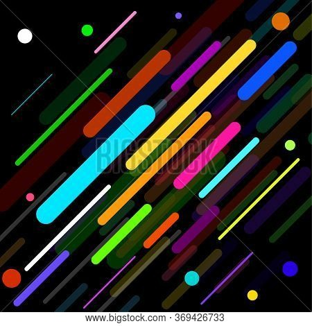 Abstract Geometric Background With Colorful Lines. Vector Illustration