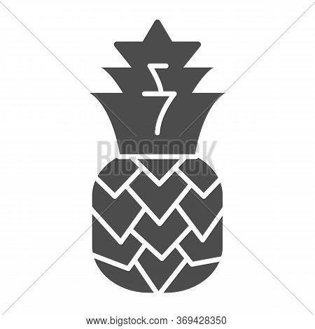 Pineapple Solid Icon, Summer Concept, Tropical Fruit Sign On White Background, Ananas Icon In Glyph