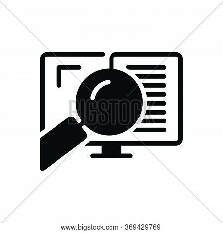 Black Solid Icon For Auditing  Auditor Search Document Verification