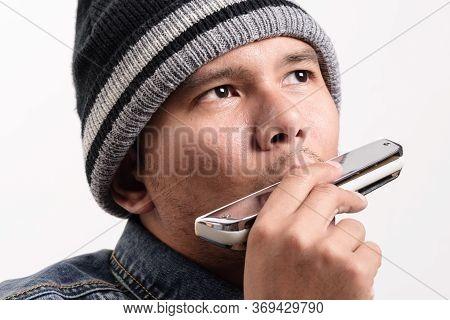 Playing The Harmonica, Music Instrument