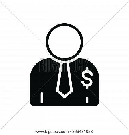 Black Solid Icon For Salesperson  Salesman Person Agent