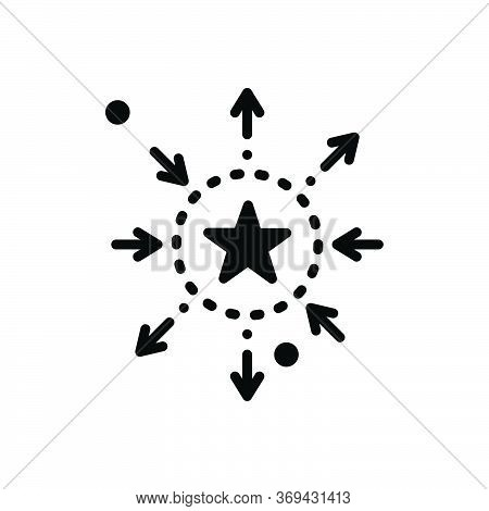 Black Solid Icon For Differentiation Discrimination Partiality Favoritism Prejudice