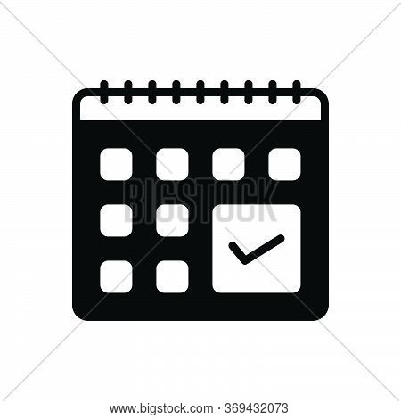 Black Solid Icon For Adherence Compliance Conformity Obedience